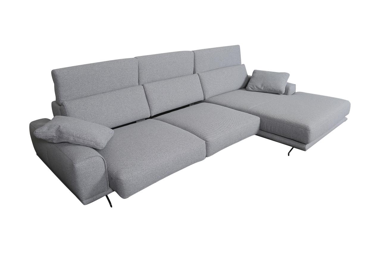 Sofa L-Form Viola-P rechts - Grau | Sofas zum halben Preis