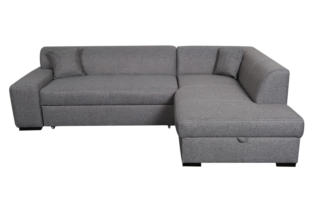Ecksofa XL Minos P rechts   mit Schlaffunktion   Grau   Sofas zum ...