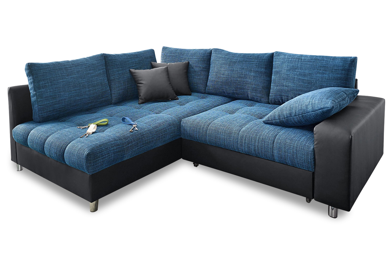 ecksofa xl tobi mit schlaffunktion blau sofas zum halben preis. Black Bedroom Furniture Sets. Home Design Ideas