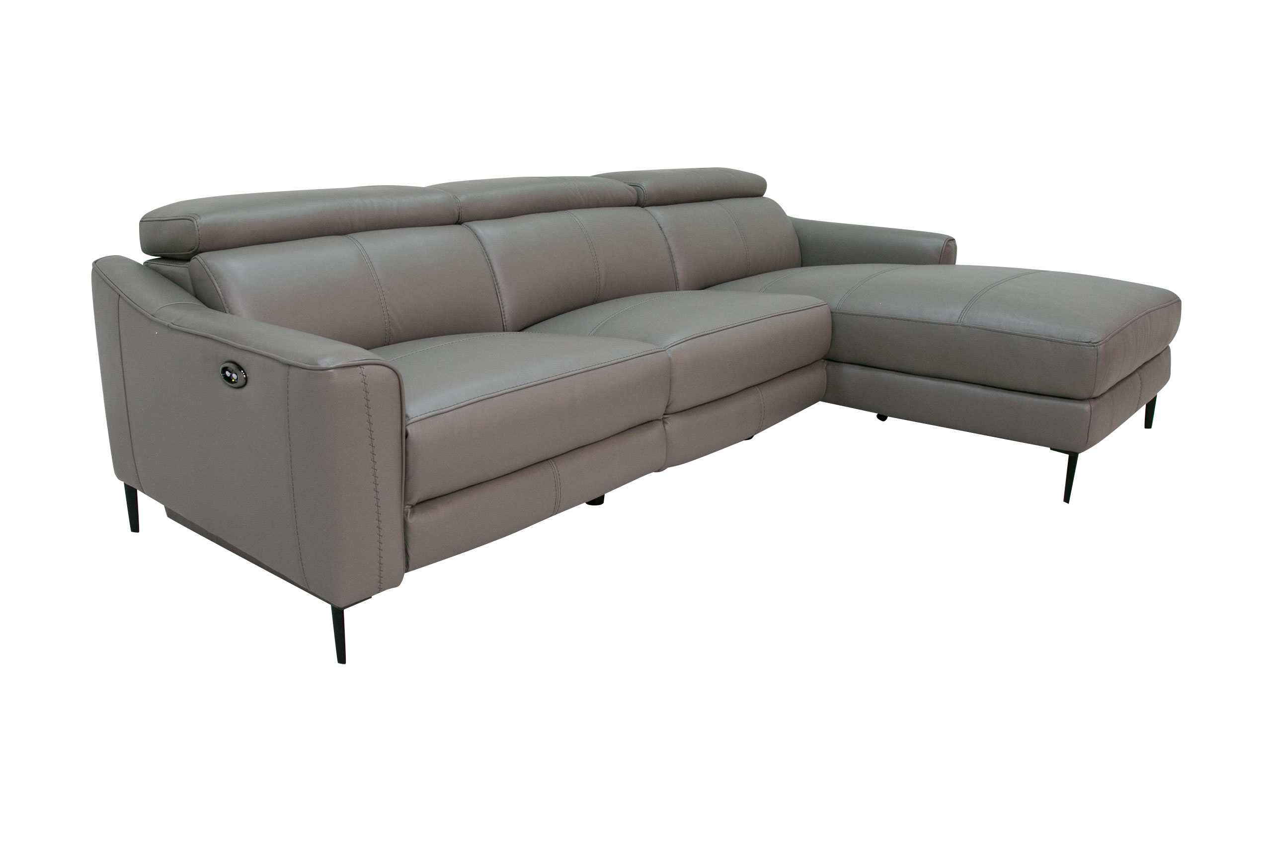 Komojo Sofa L-Form Queen rechts - mit Relax - Taupe ...
