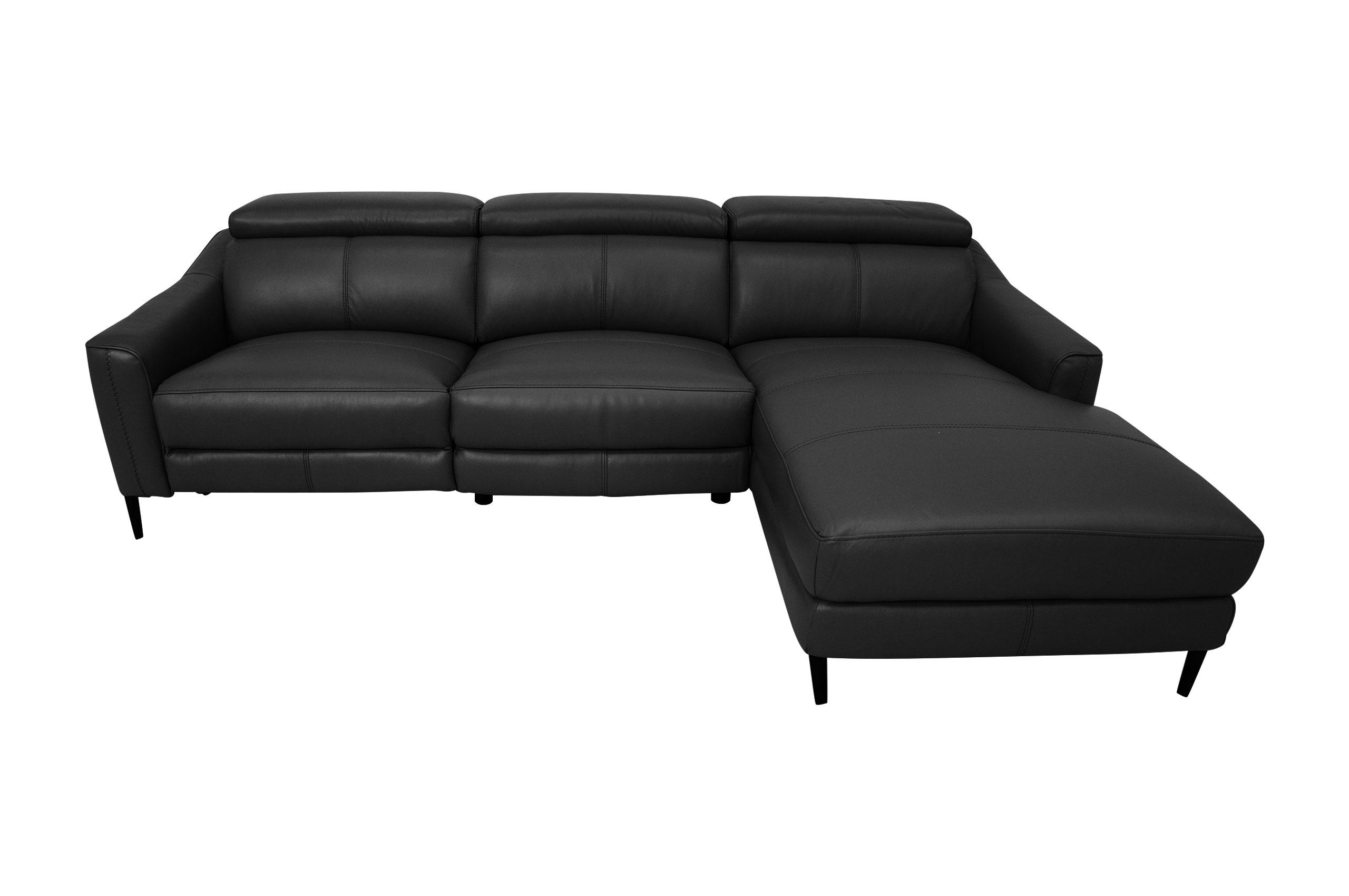 Komojo Sofa L-Form 5012 rechts - mit Relax - Schwarz ...