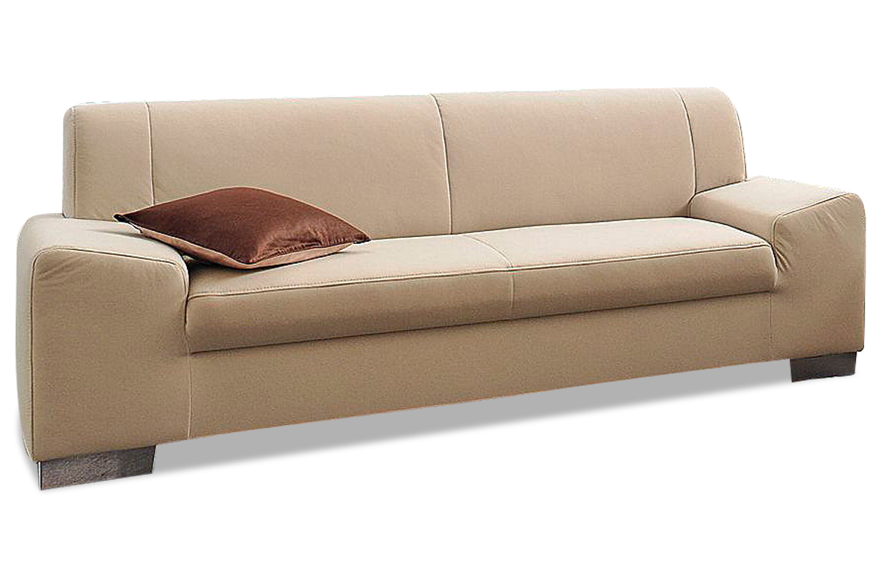 Einzelsofa 3er sofa alisson microfaser sofa couch for Sofa microfaser