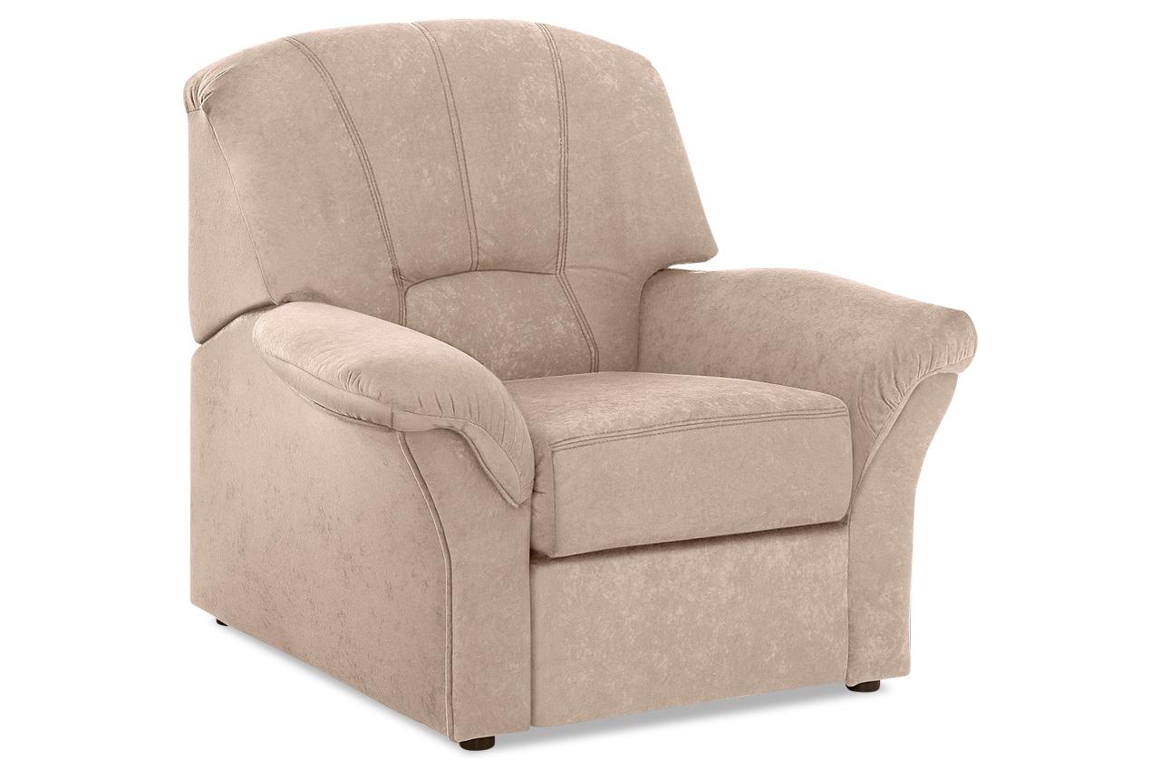 sessel wesley mit relax creme mit federkern sofas zum halben preis. Black Bedroom Furniture Sets. Home Design Ideas