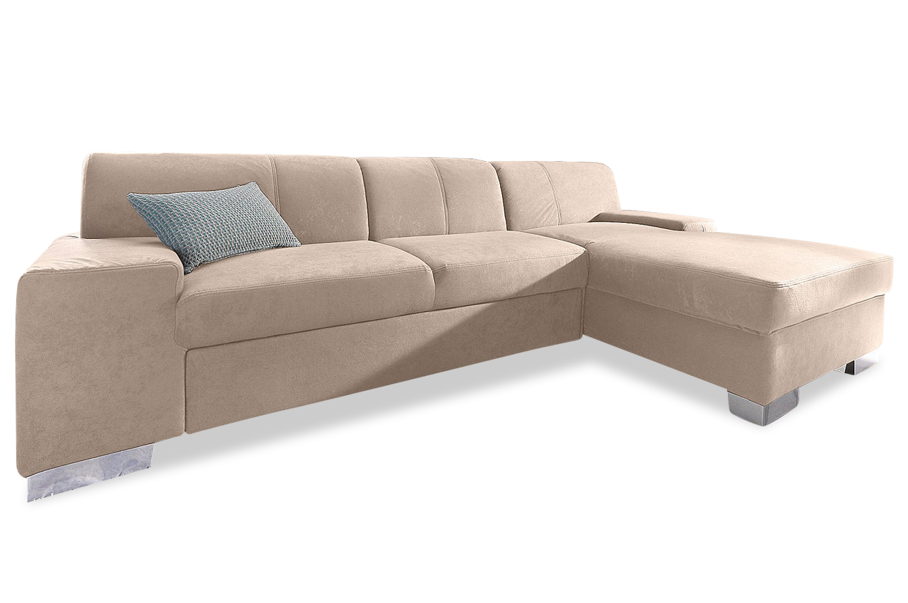 Sofa couch ecksofa polsterecke star mit bett microfaser for Sofa microfaser