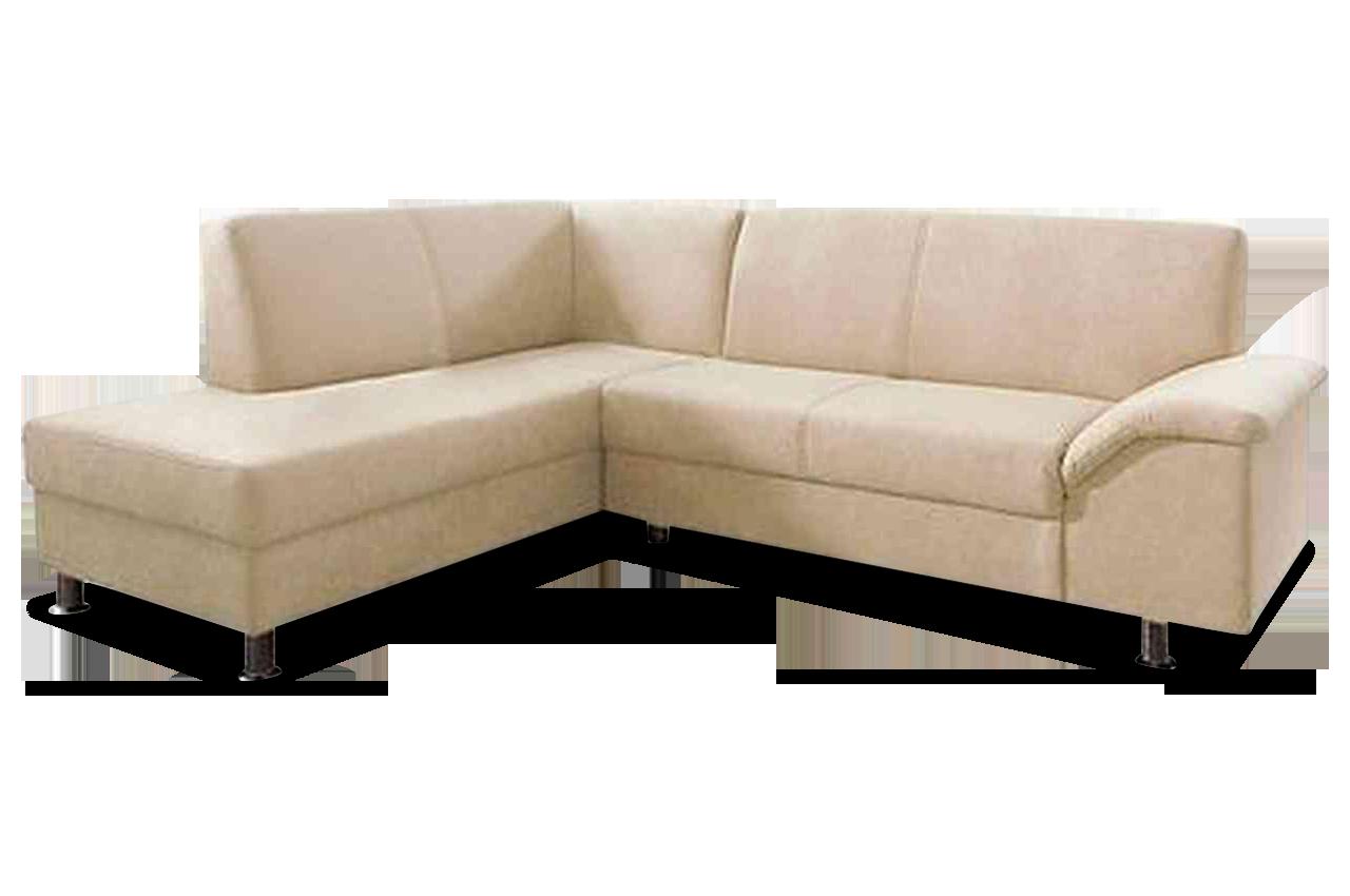 Ecksofa xl lesmona creme mit federkern sofas zum for Ecksofa creme