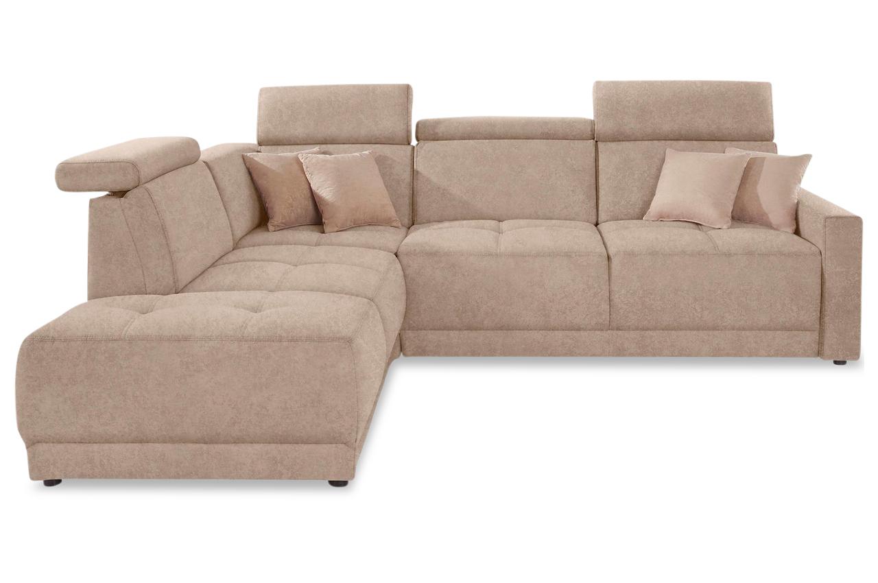 Ecksofa xl ava creme sofas zum halben preis for Ecksofa creme