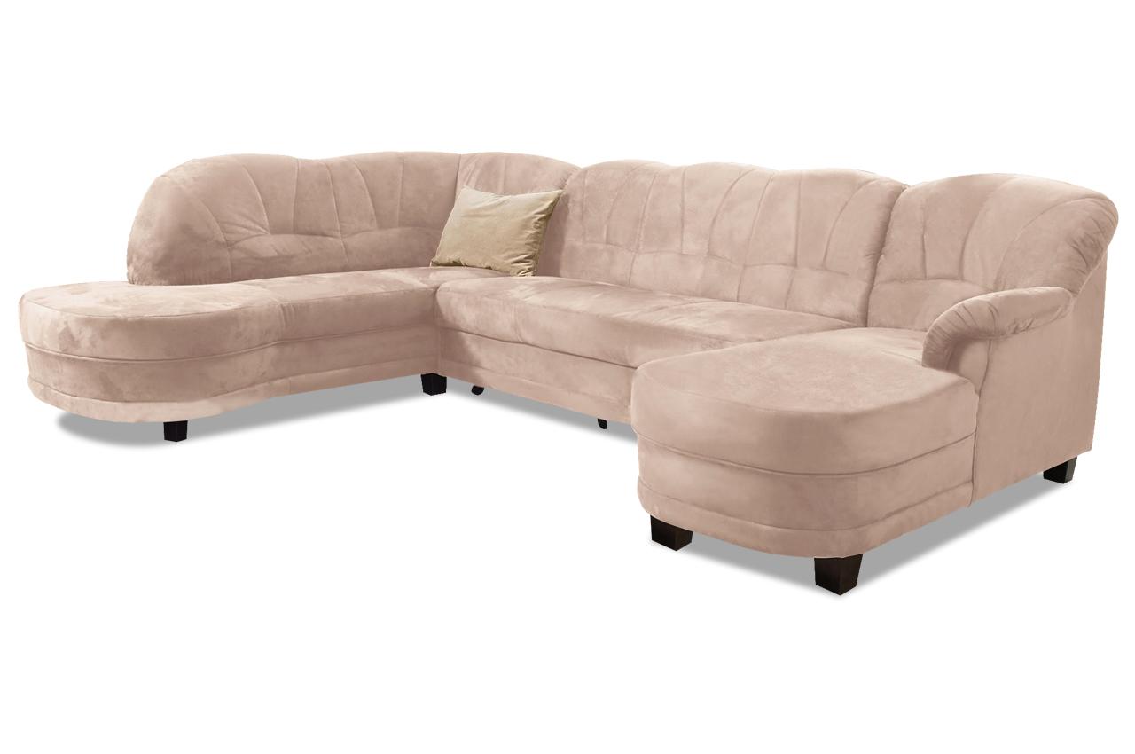 wohnlandschaft camelita mit bett sofas zum halben preis. Black Bedroom Furniture Sets. Home Design Ideas