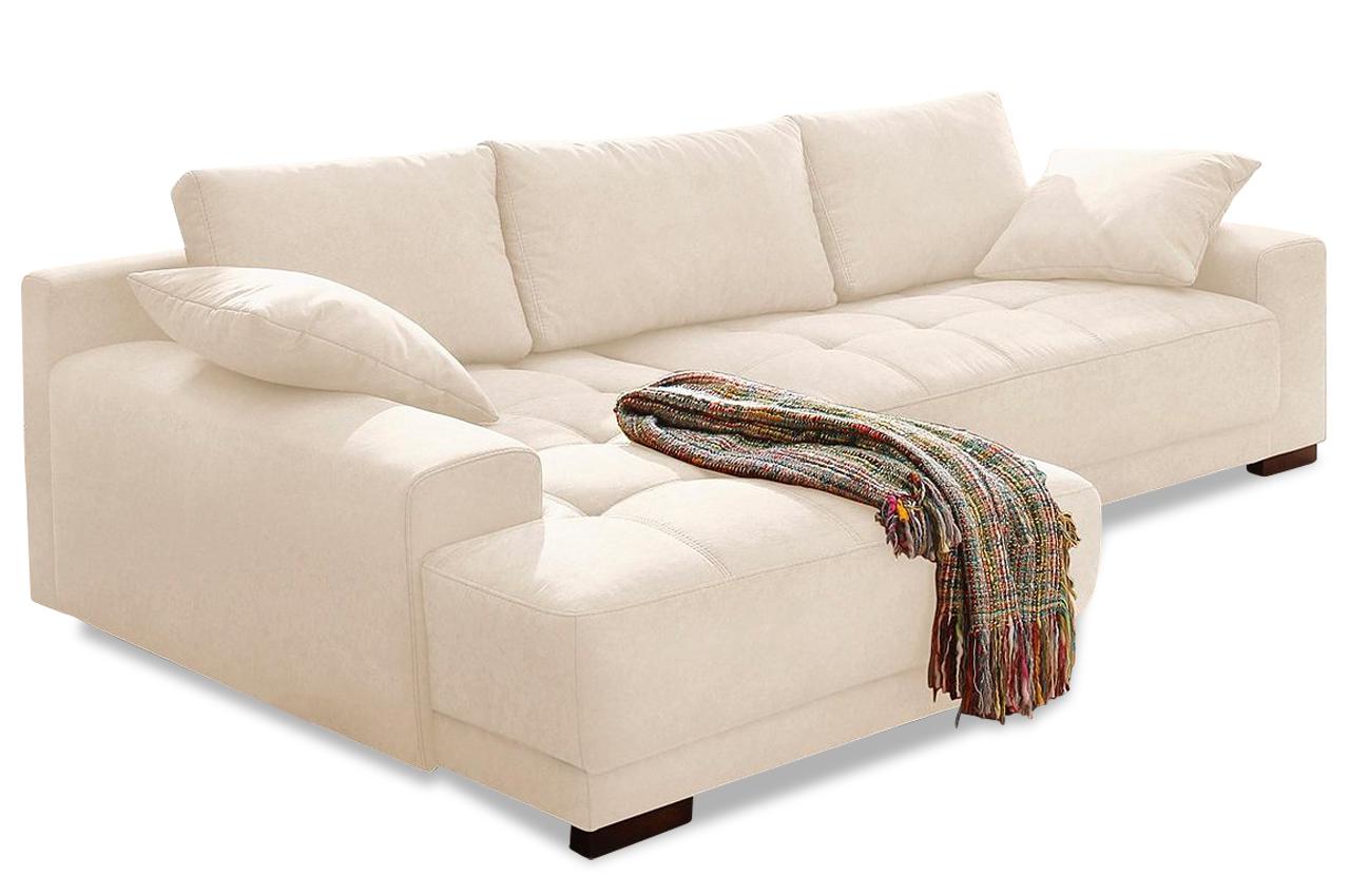 Nova via ecksofa roberto creme sofa couch ecksofa ebay for Ecksofa sitztiefe 70