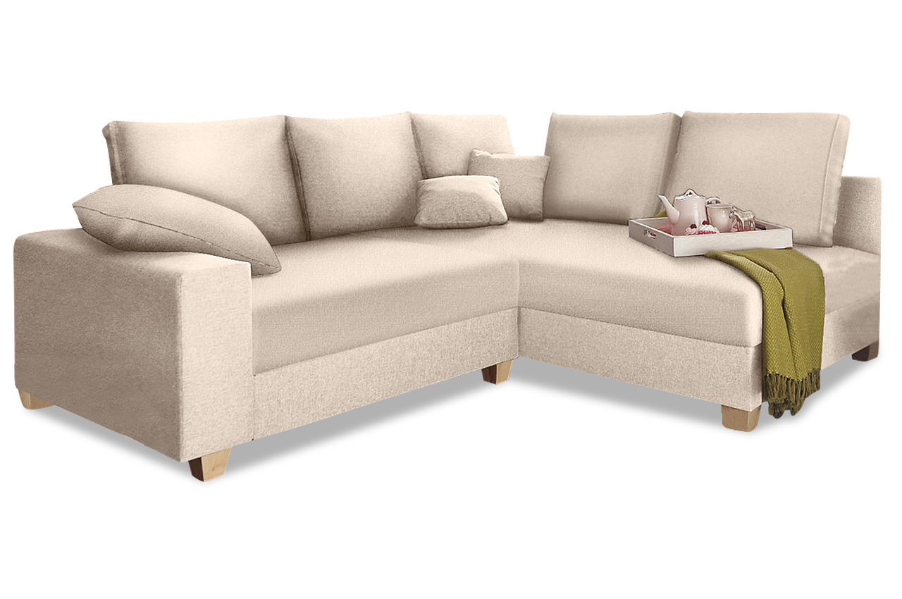 ecksofa xl carolina creme mit federkern sofas zum. Black Bedroom Furniture Sets. Home Design Ideas