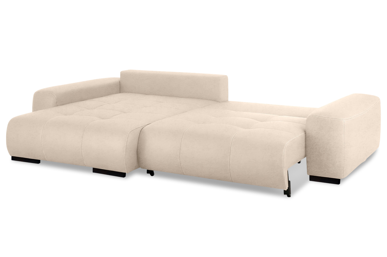ecksofa davis mit schlaffunktion creme mit boxspring. Black Bedroom Furniture Sets. Home Design Ideas