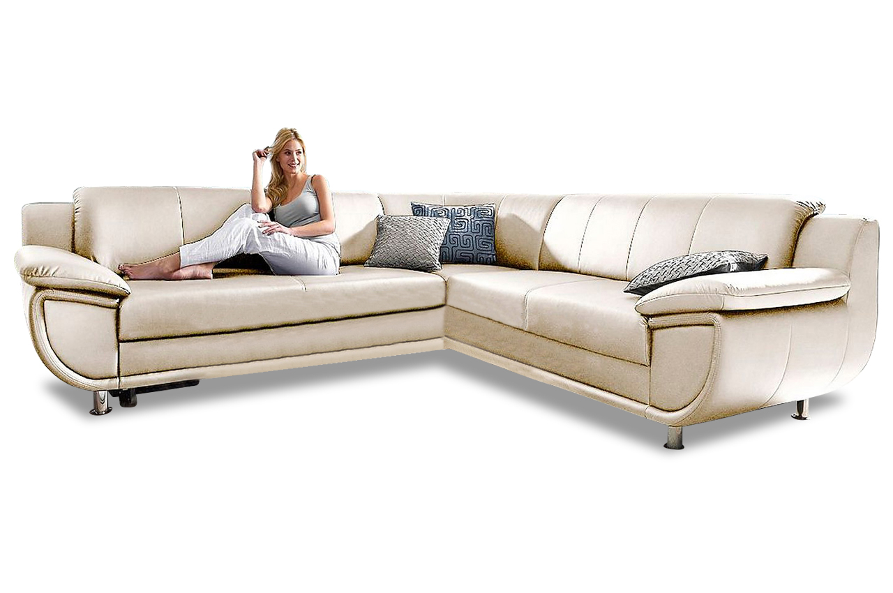 rundecke rondo mit schlaffunktion creme sofas zum halben preis. Black Bedroom Furniture Sets. Home Design Ideas