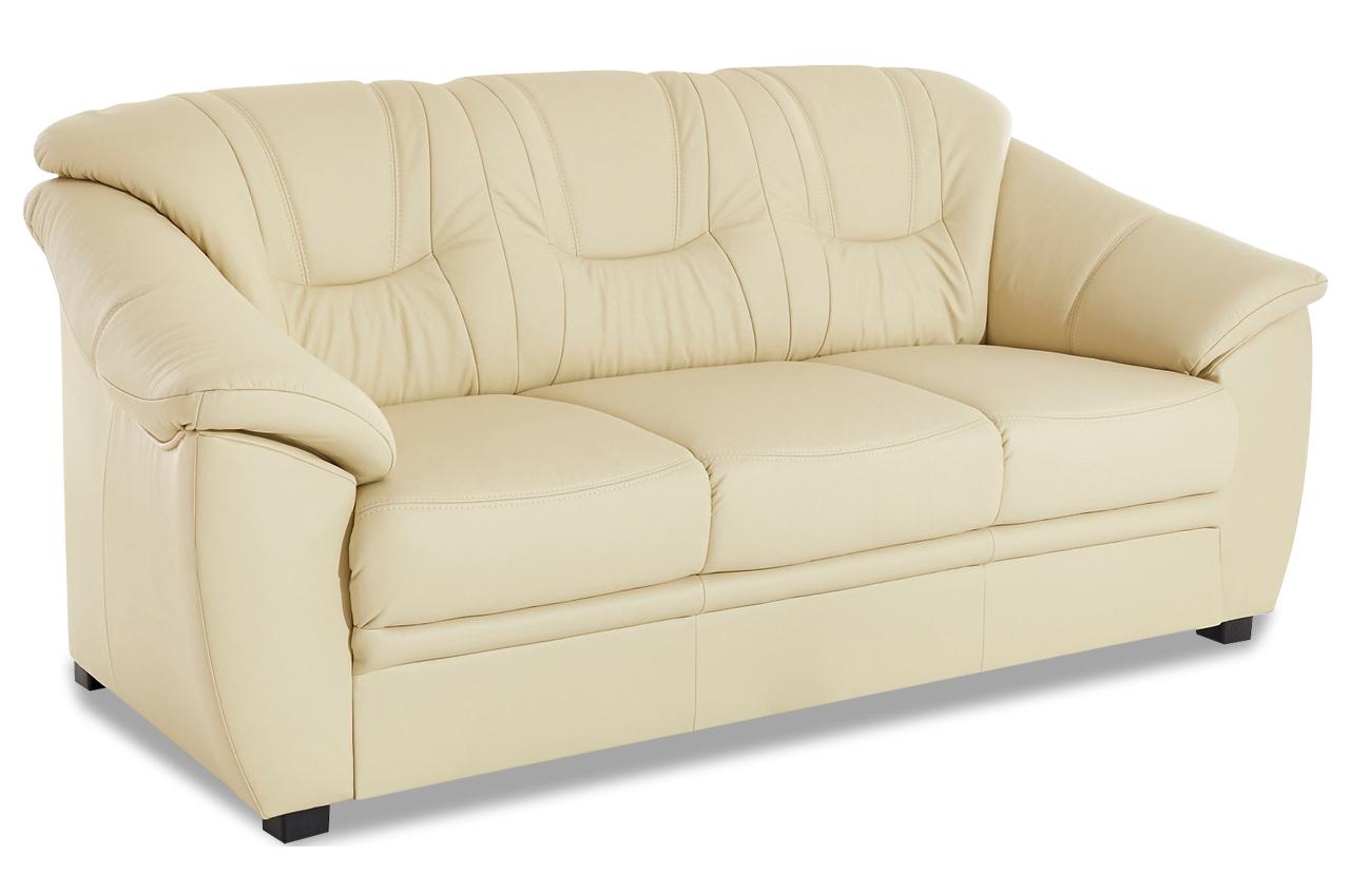 leder schlafsofa savona mit schlaffunktion creme mit. Black Bedroom Furniture Sets. Home Design Ideas
