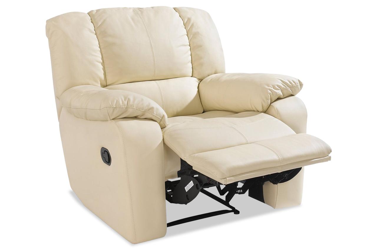 leder sessel mit relax weiss sofas zum halben preis. Black Bedroom Furniture Sets. Home Design Ideas