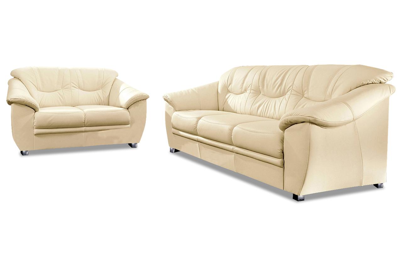 sit more leder garnitur 3 2 savona creme mit federkern sofas zum halben preis. Black Bedroom Furniture Sets. Home Design Ideas