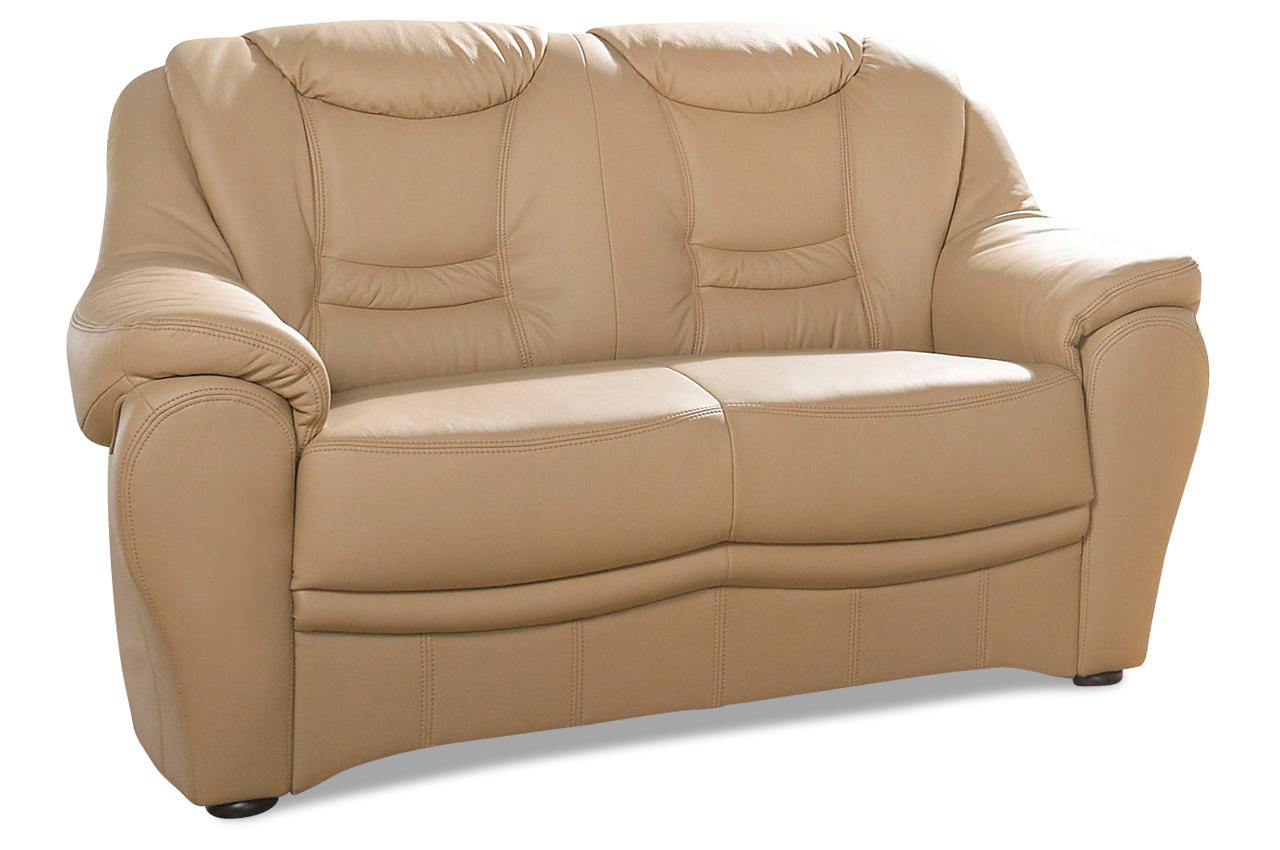 leder 2er sofa braun mit federkern sofas zum halben preis. Black Bedroom Furniture Sets. Home Design Ideas
