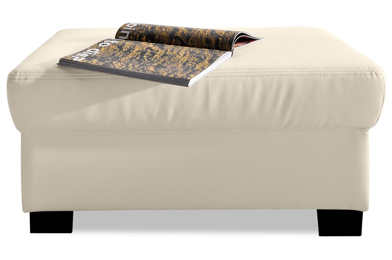 leder hocker star weiss sofas zum halben preis. Black Bedroom Furniture Sets. Home Design Ideas