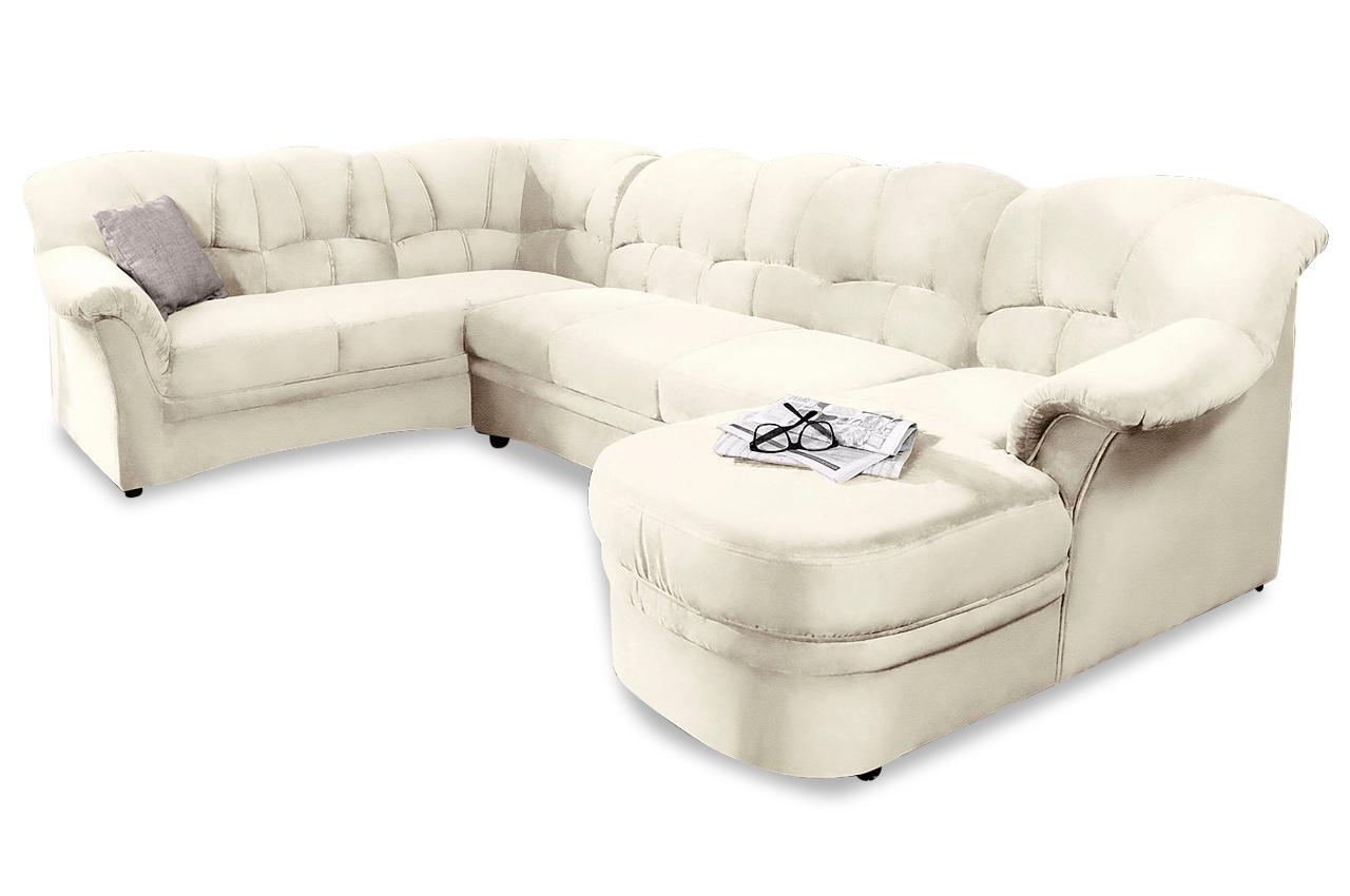 leder wohnlandschaft kampen mit schlaffunktion weiss mit federkern sofas zum halben preis. Black Bedroom Furniture Sets. Home Design Ideas