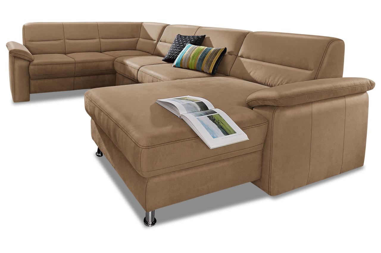 premium leder wohnlandschaft alice mit schlaffunktion. Black Bedroom Furniture Sets. Home Design Ideas
