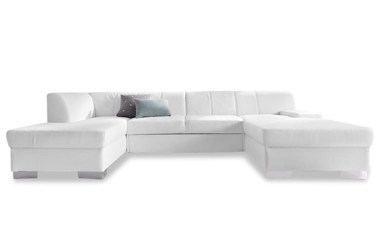 leder wohnlandschaft star weiss sofas zum halben preis. Black Bedroom Furniture Sets. Home Design Ideas