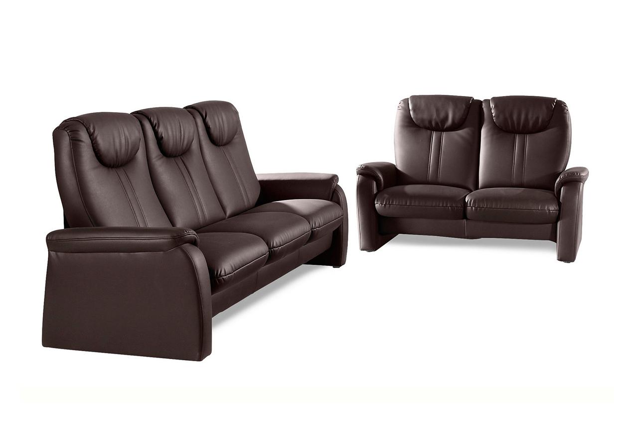 leder garnitur 3 2 cantus mit sitzverstellung braun sofas zum halben preis. Black Bedroom Furniture Sets. Home Design Ideas
