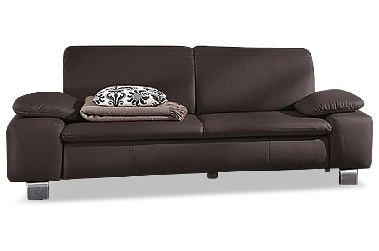 leder 3er sofa braun sofas zum halben preis. Black Bedroom Furniture Sets. Home Design Ideas