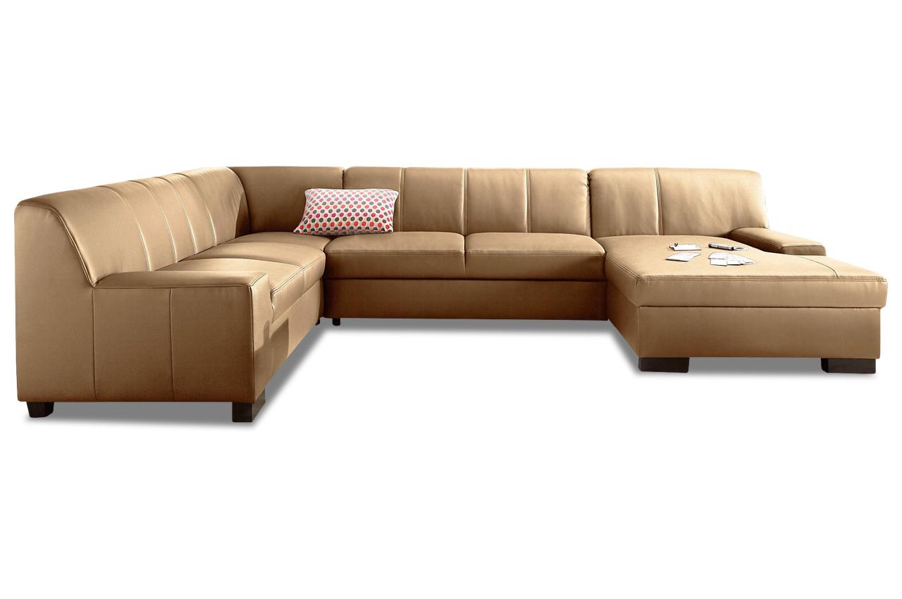 leder wohnlandschaft norma braun sofas zum halben preis. Black Bedroom Furniture Sets. Home Design Ideas