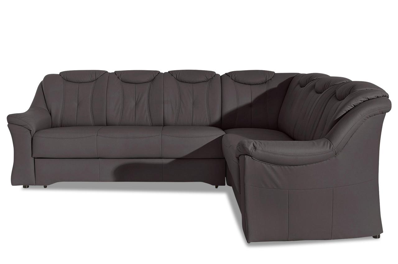 Leder Ecksofa Xl Saloniki Mit Schlaffunktion Braun Sofa Couch Ecksofa