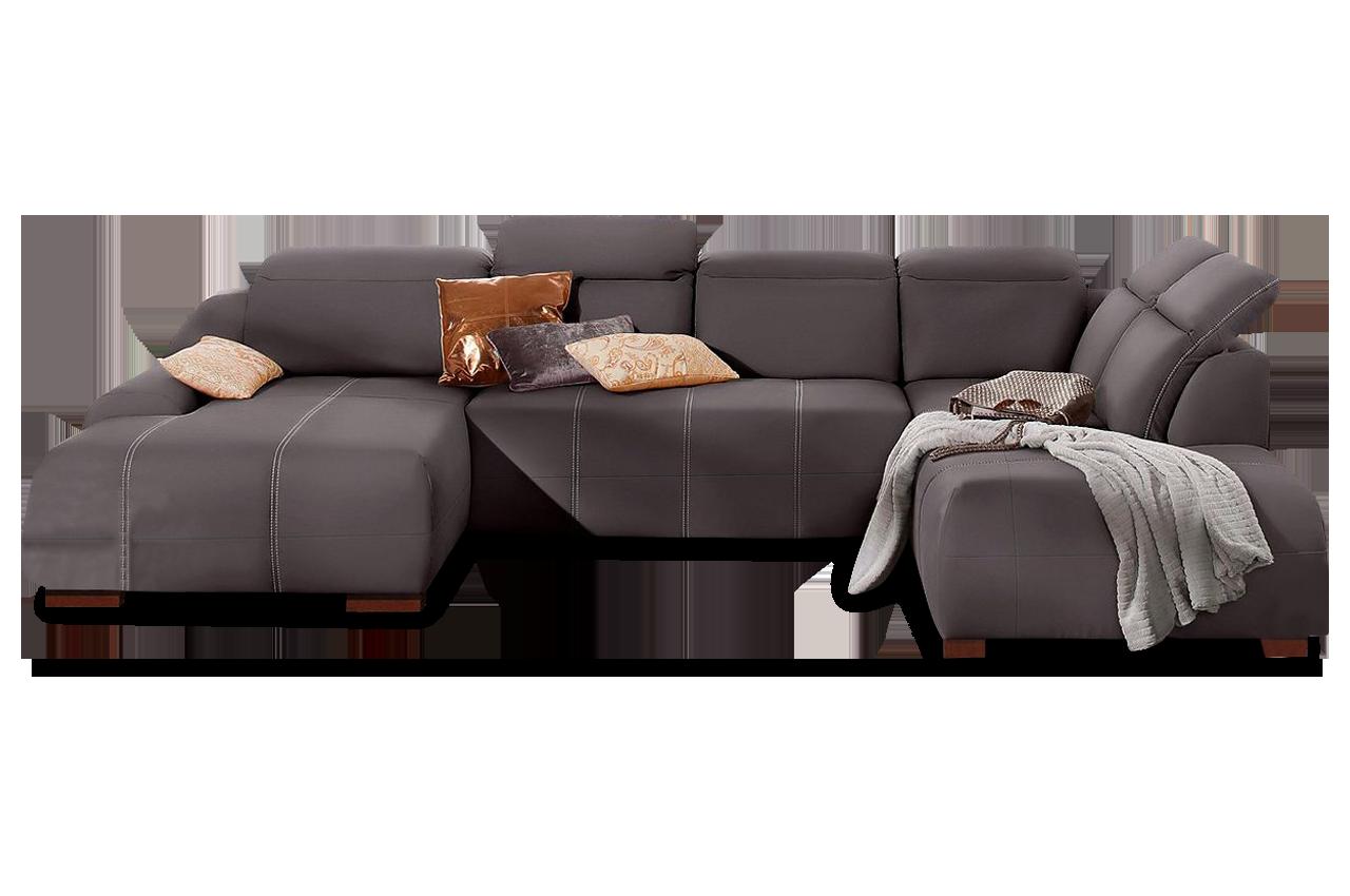 leder wohnlandschaft mit schlaffunktion braun mit federkern sofas zum halben preis. Black Bedroom Furniture Sets. Home Design Ideas
