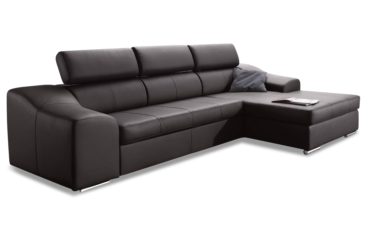 leder ecksofa mit schlaffunktion braun sofas zum. Black Bedroom Furniture Sets. Home Design Ideas