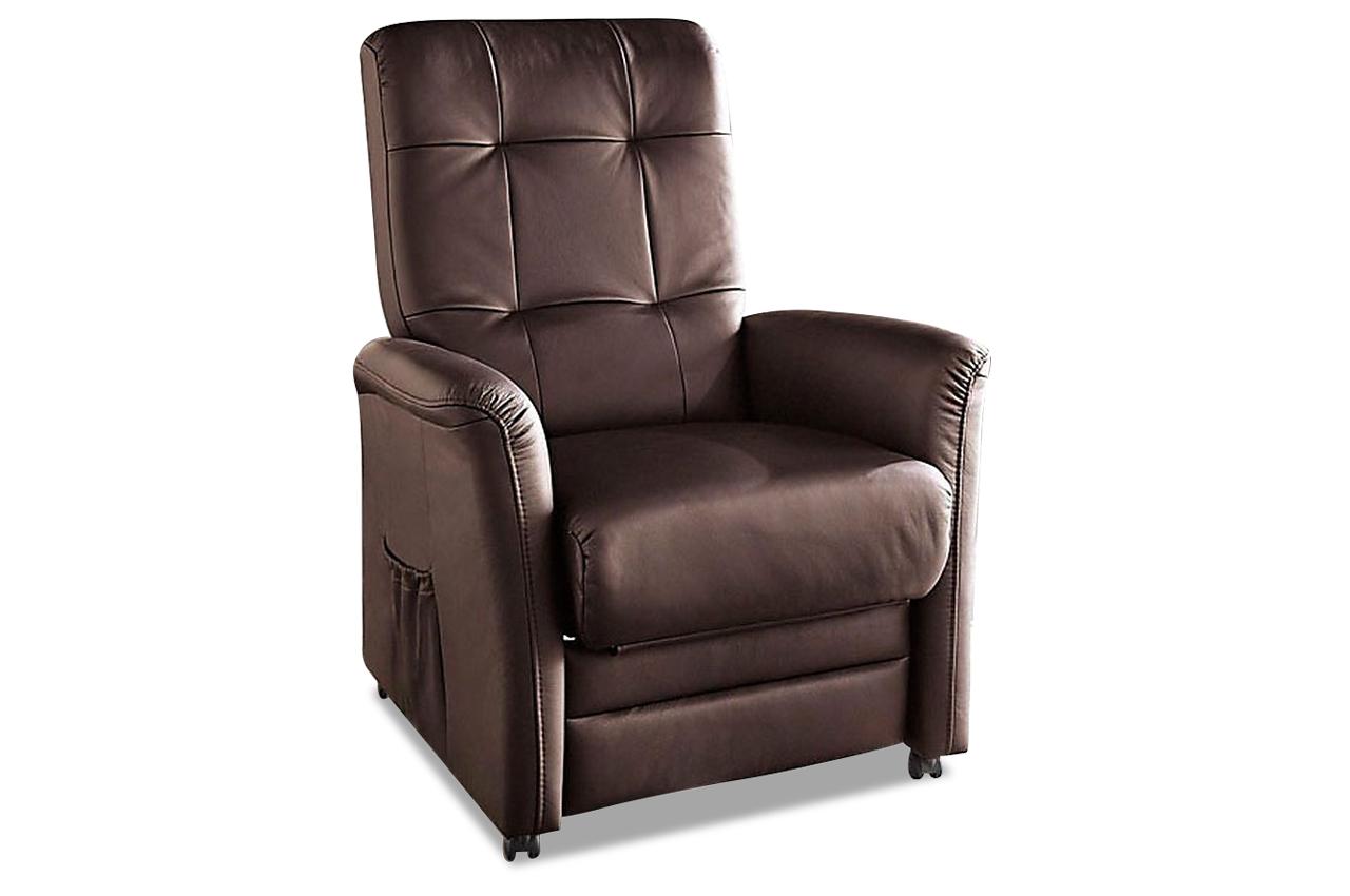 Leder fernsehsessel mit relax braun sofas zum halben for Fernsehsessel braun