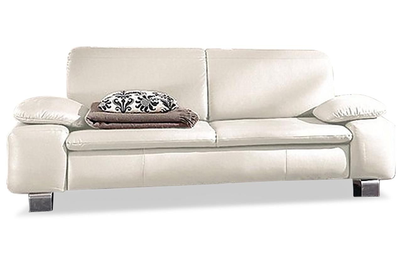 leder 3er sofa weiss sofas zum halben preis. Black Bedroom Furniture Sets. Home Design Ideas