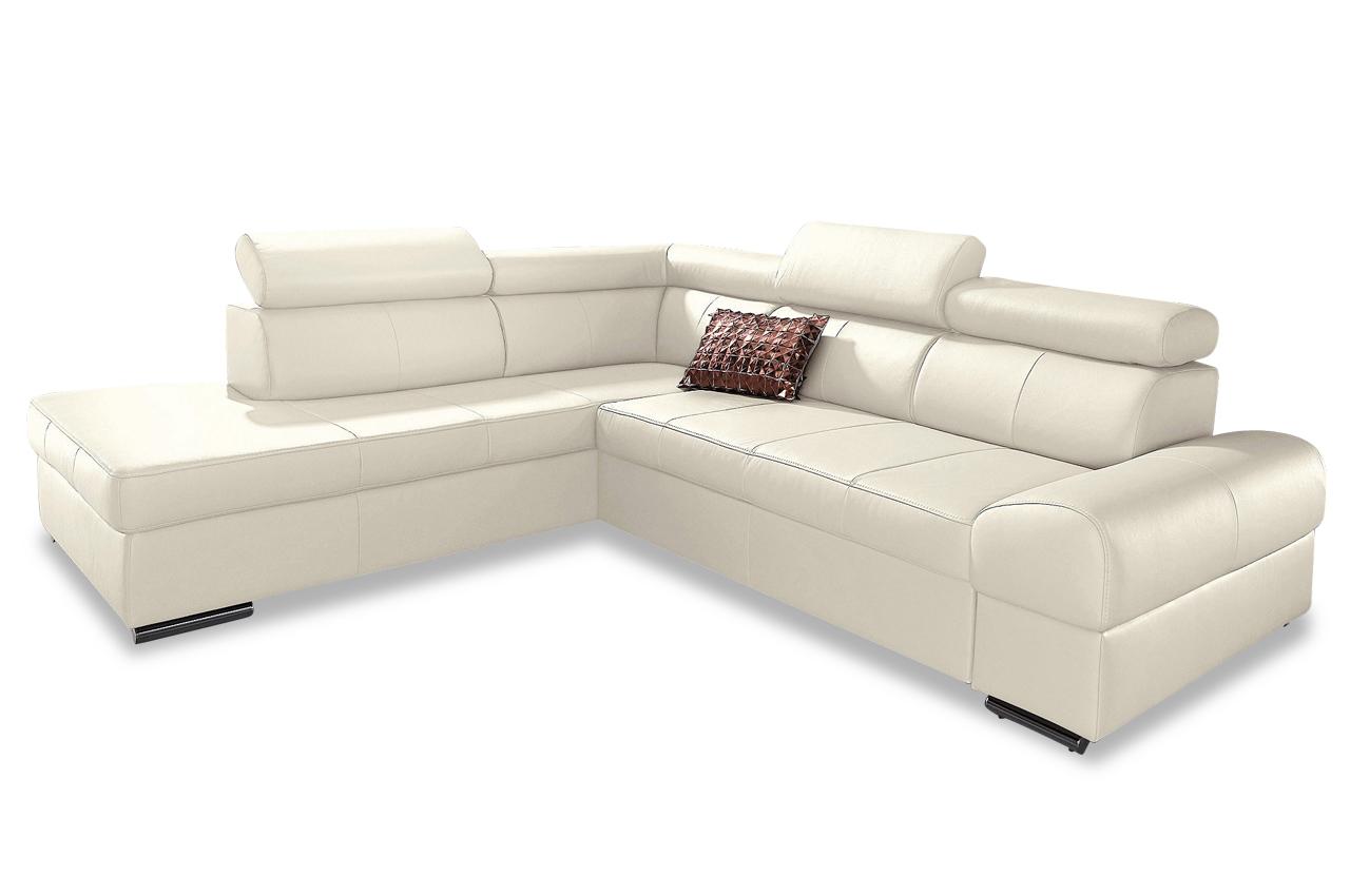Leder ecksofa xl broadway creme sofas zum halben preis for Ecksofa creme