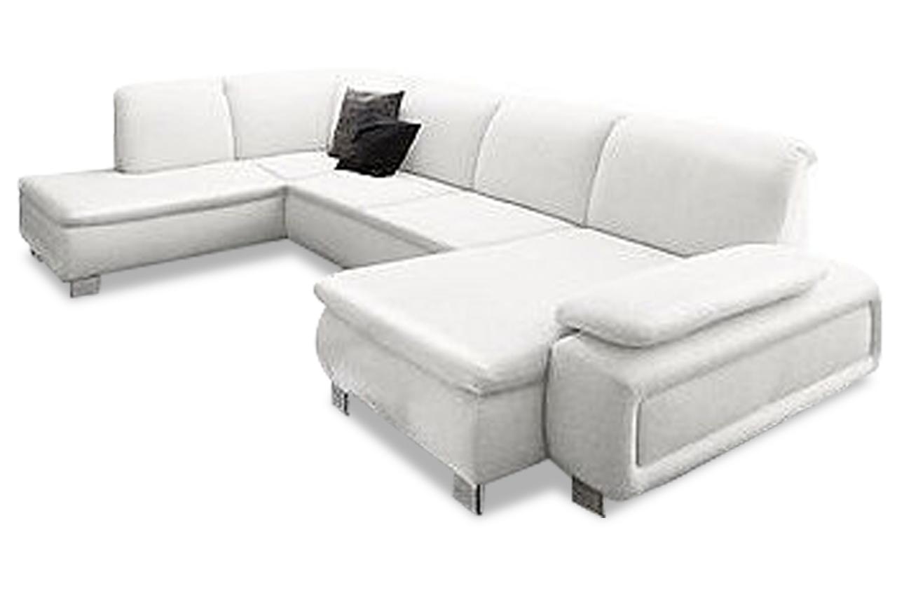 leder wohnlandschaft weiss sofas zum halben preis. Black Bedroom Furniture Sets. Home Design Ideas