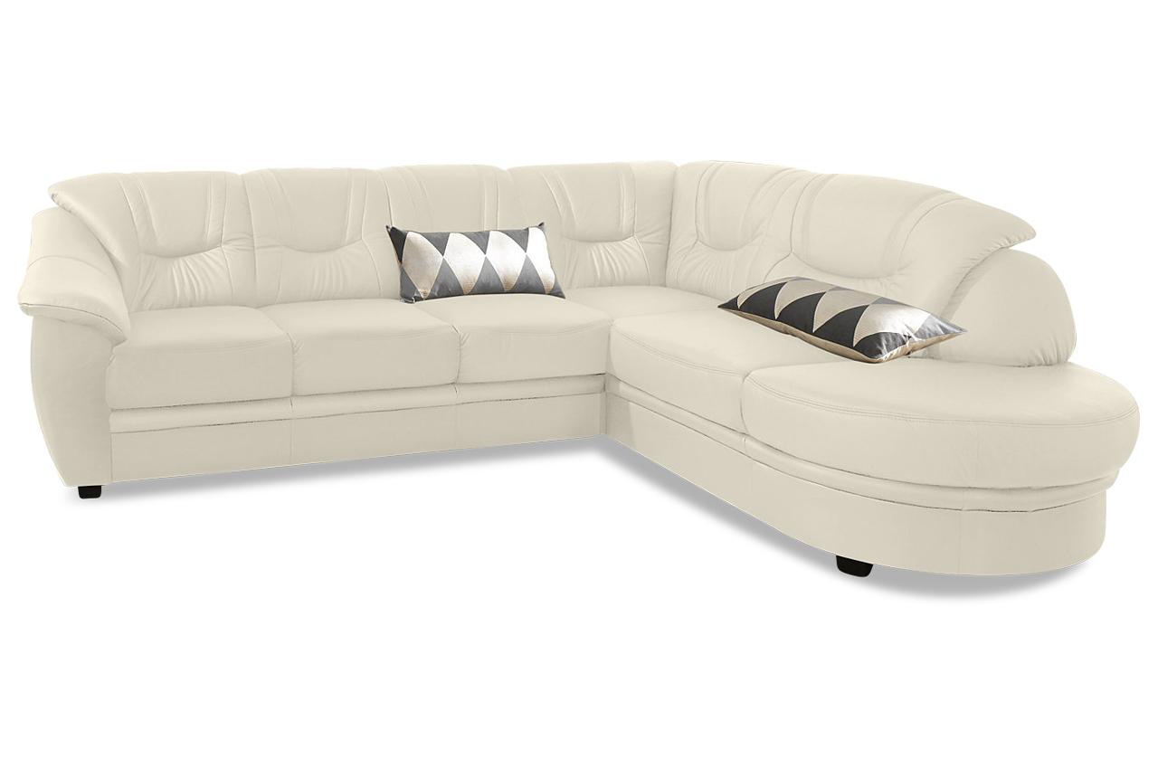 leder ecksofa xl mit schlaffunktion creme mit federkern sofas zum halben preis. Black Bedroom Furniture Sets. Home Design Ideas