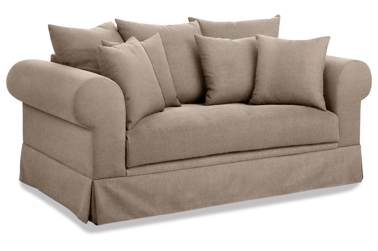 stolmar 2er sofa palmina creme sofas zum halben preis. Black Bedroom Furniture Sets. Home Design Ideas