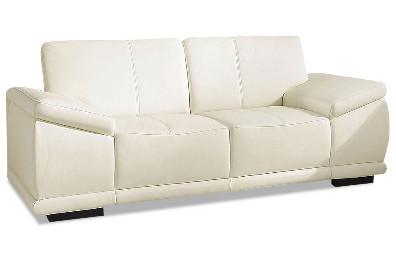 leder 2er sofa creme sofas zum halben preis. Black Bedroom Furniture Sets. Home Design Ideas