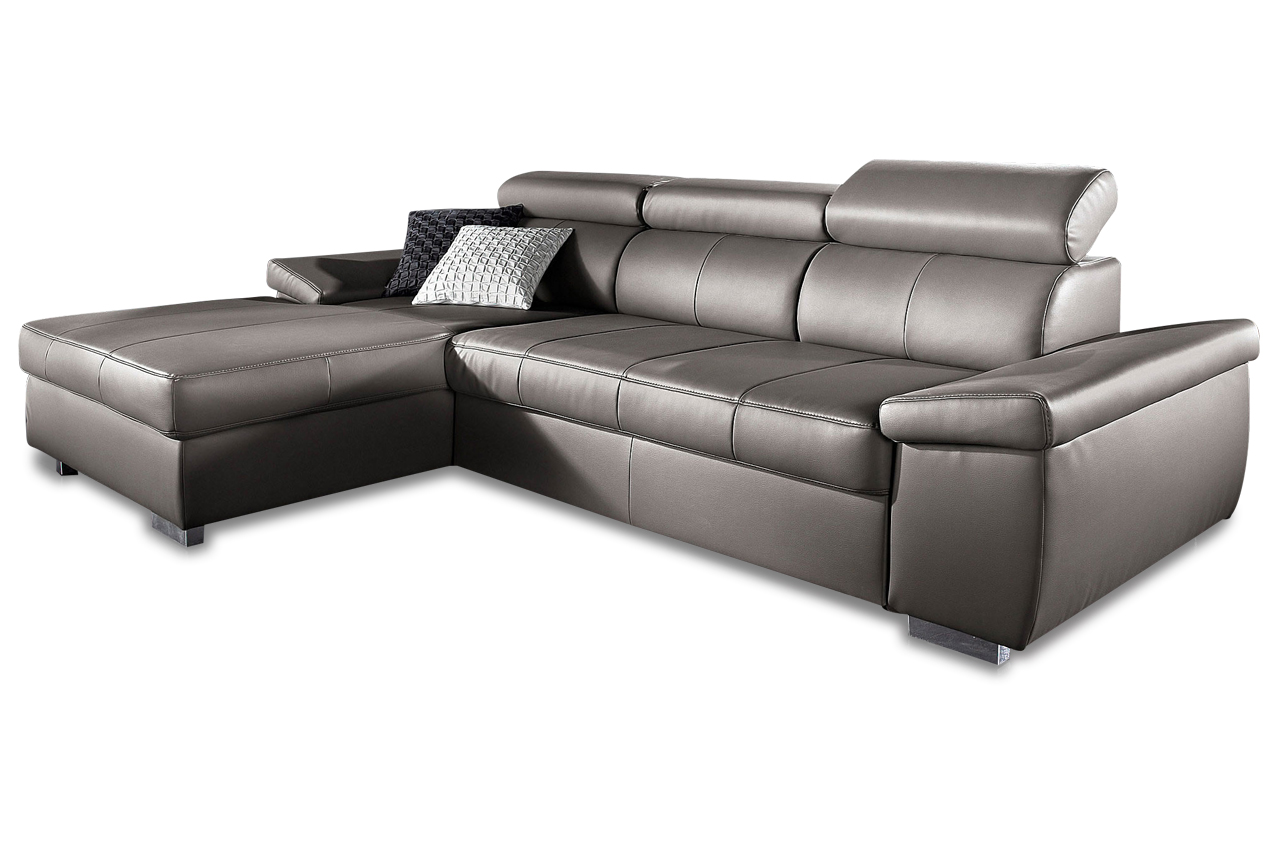 leder ecksofa mit schlaffunktion grau sofas zum. Black Bedroom Furniture Sets. Home Design Ideas