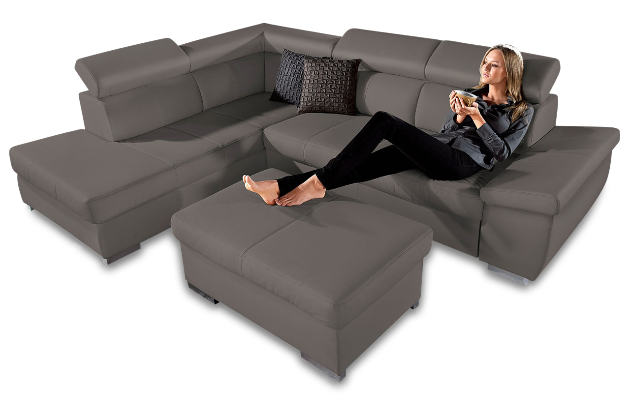 leder ecksofa xl catwalk anthrazit sofas zum halben preis. Black Bedroom Furniture Sets. Home Design Ideas