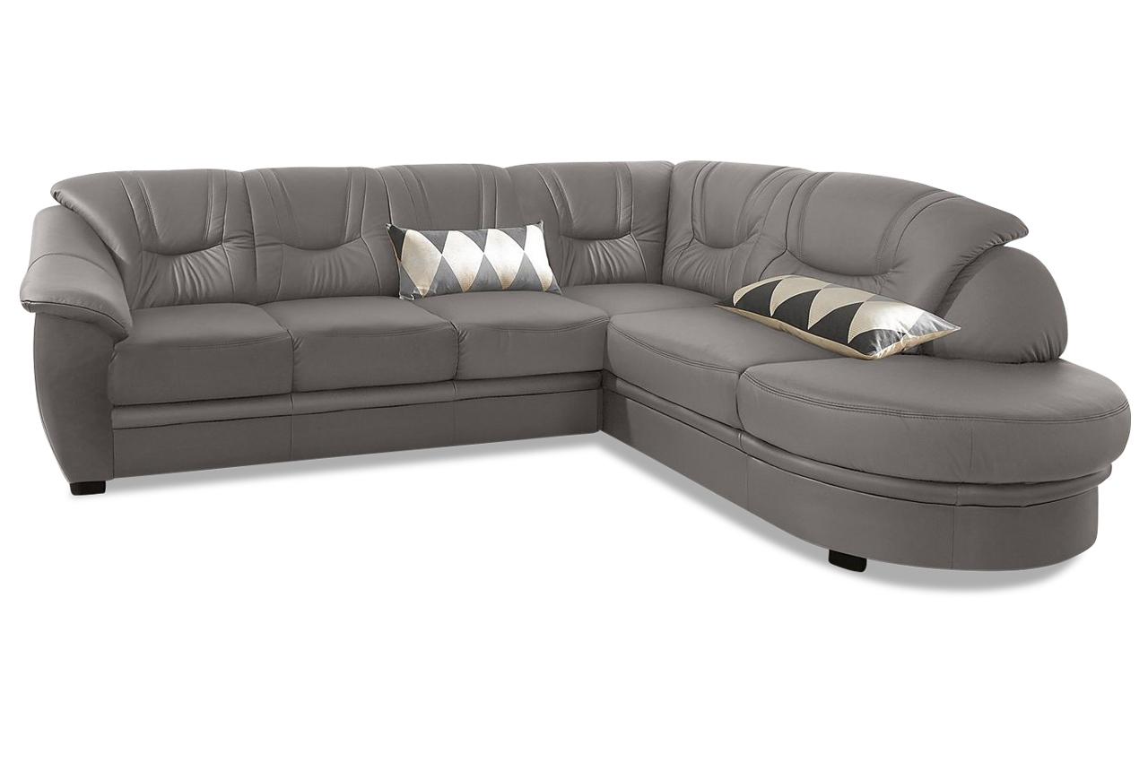 leder ecksofa xl mit schlaffunktion grau mit federkern sofas zum halben preis. Black Bedroom Furniture Sets. Home Design Ideas