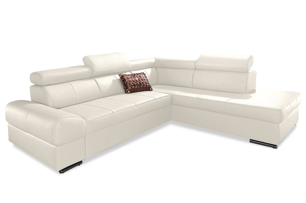 premium leder ecksofa xl runway weiss sofas zum halben. Black Bedroom Furniture Sets. Home Design Ideas