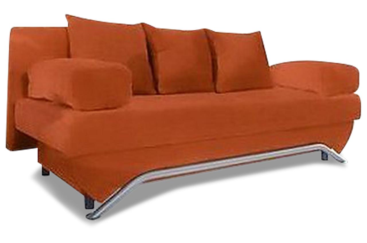 Schlafsofa mit schlaffunktion orange sofas zum for Schlafsofa orange