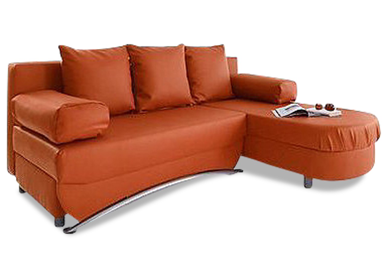 ecksofa mit schlaffunktion orange sofas zum halben preis. Black Bedroom Furniture Sets. Home Design Ideas