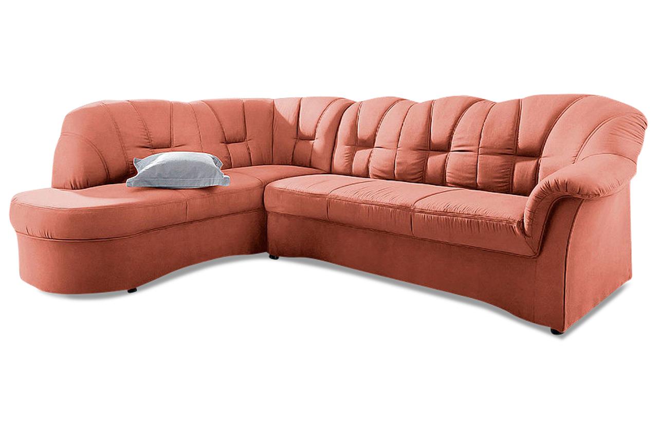 ecksofa xl papenburg o orange microfaser sofa couch. Black Bedroom Furniture Sets. Home Design Ideas