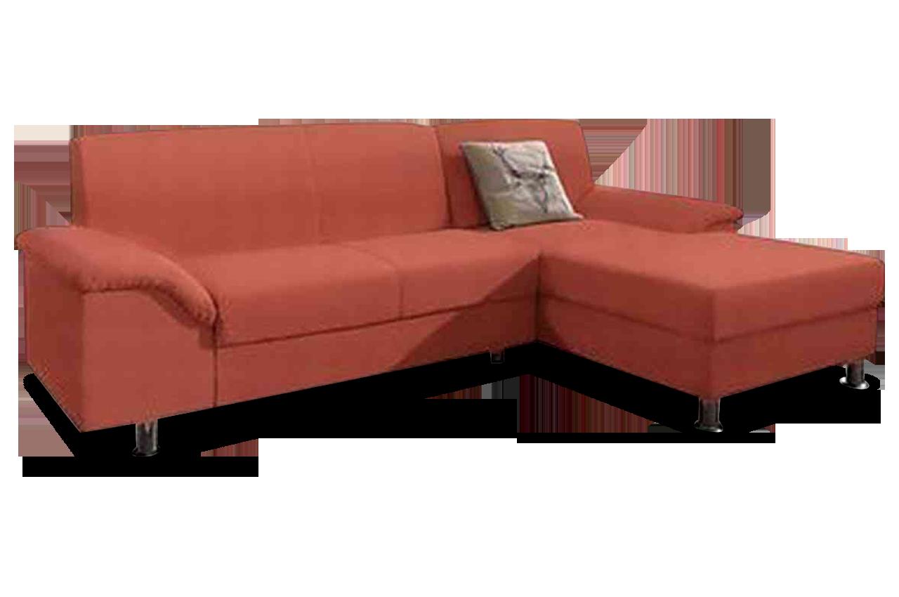 ecksofa lesmona orange mit federkern sofas zum halben. Black Bedroom Furniture Sets. Home Design Ideas