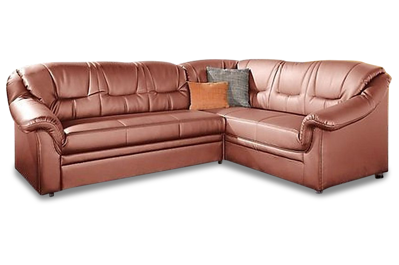 domo collection leder ecksofa xl montana orange sofa. Black Bedroom Furniture Sets. Home Design Ideas