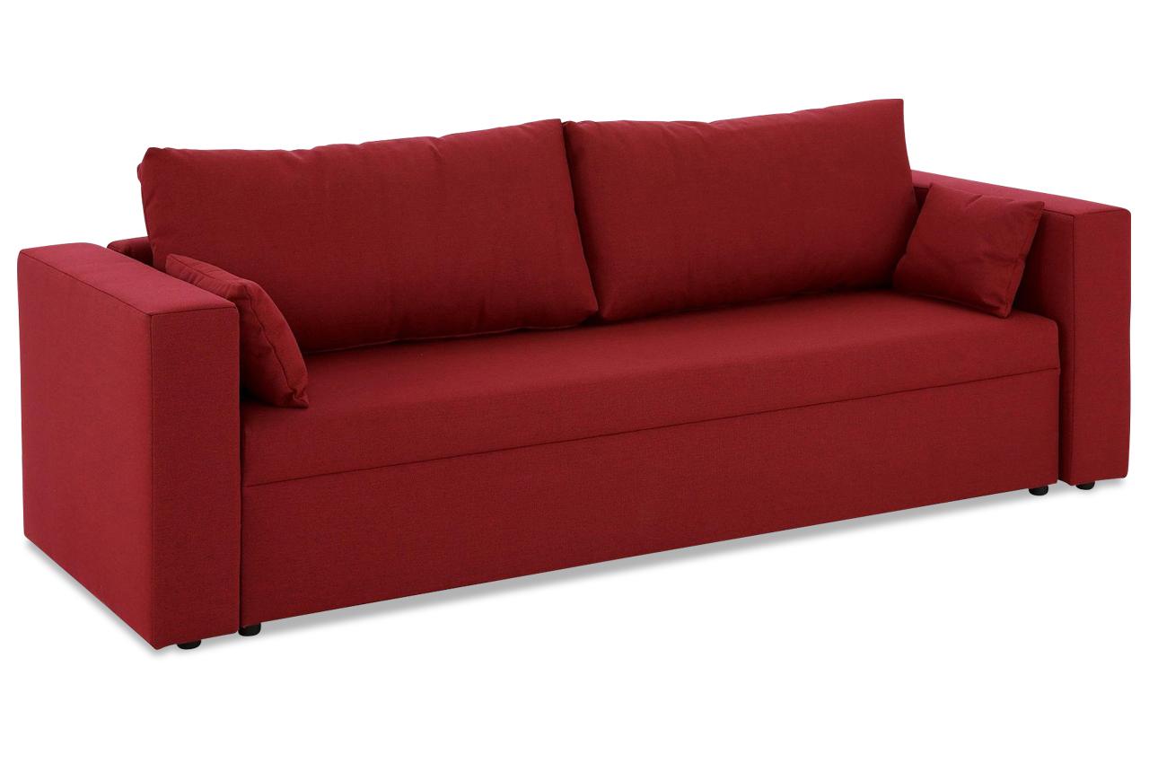 stolmar 3er sofa pur mit schlaffunktion rot sofas. Black Bedroom Furniture Sets. Home Design Ideas