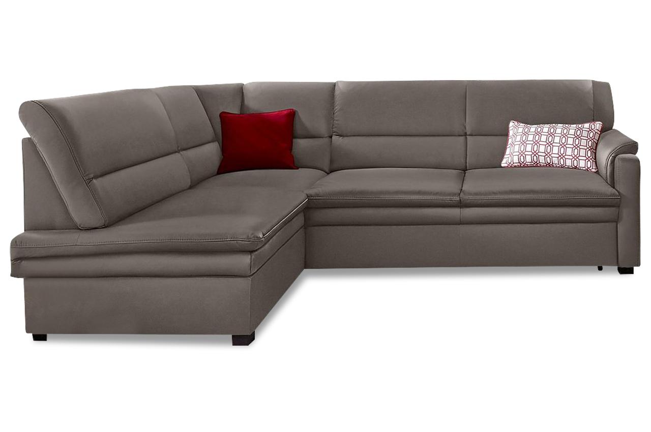 leder ecksofa xl grau mit federkern sofas zum halben preis. Black Bedroom Furniture Sets. Home Design Ideas