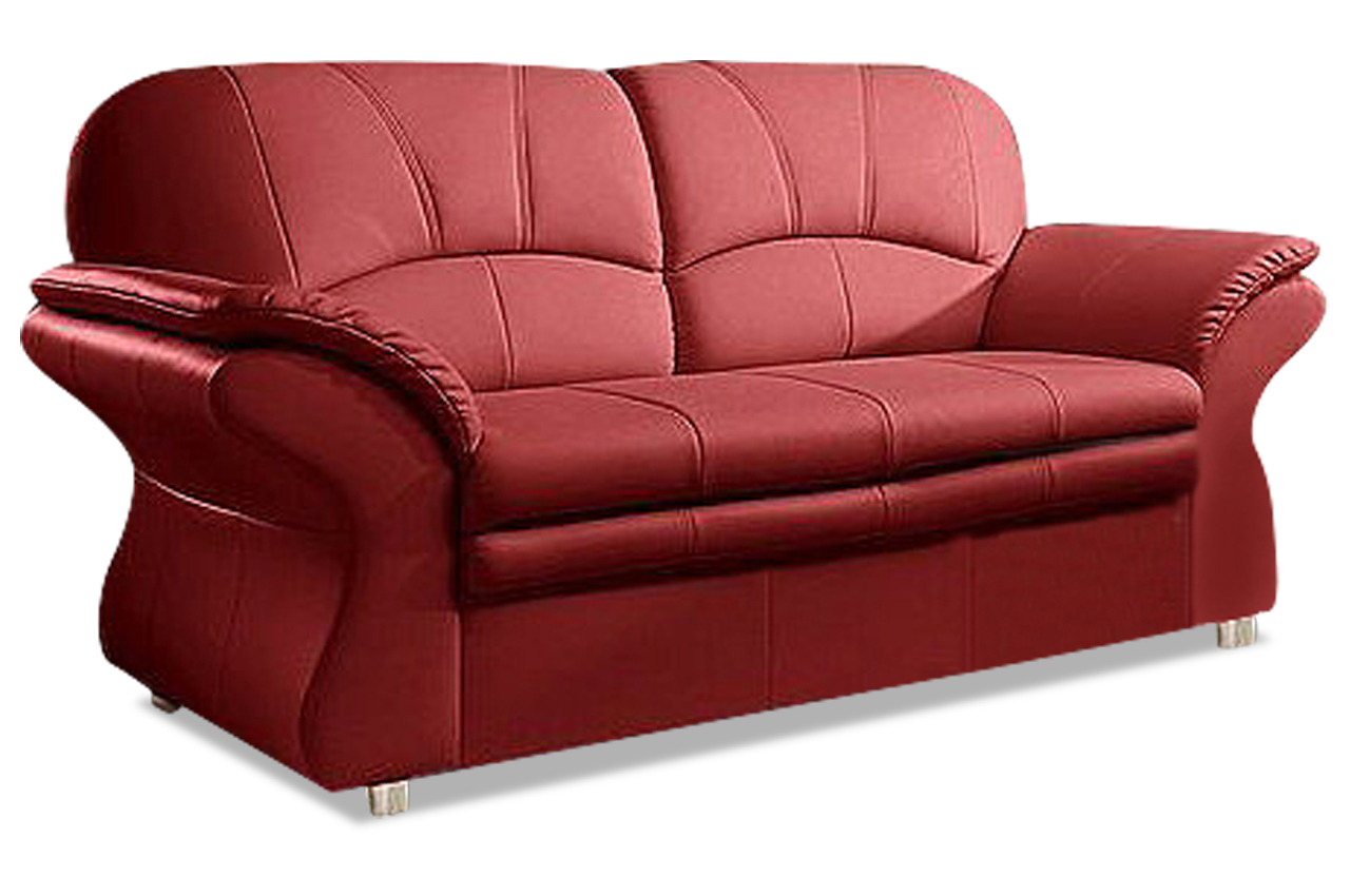 leder 3er sofa rot sofas zum halben preis. Black Bedroom Furniture Sets. Home Design Ideas