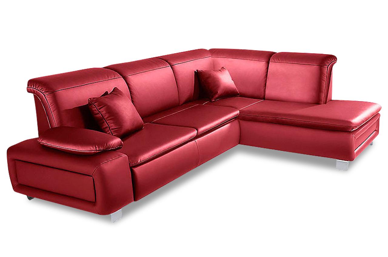 Sit more megaecke new castle sofas zum halben preis for Ecksofa leder rot