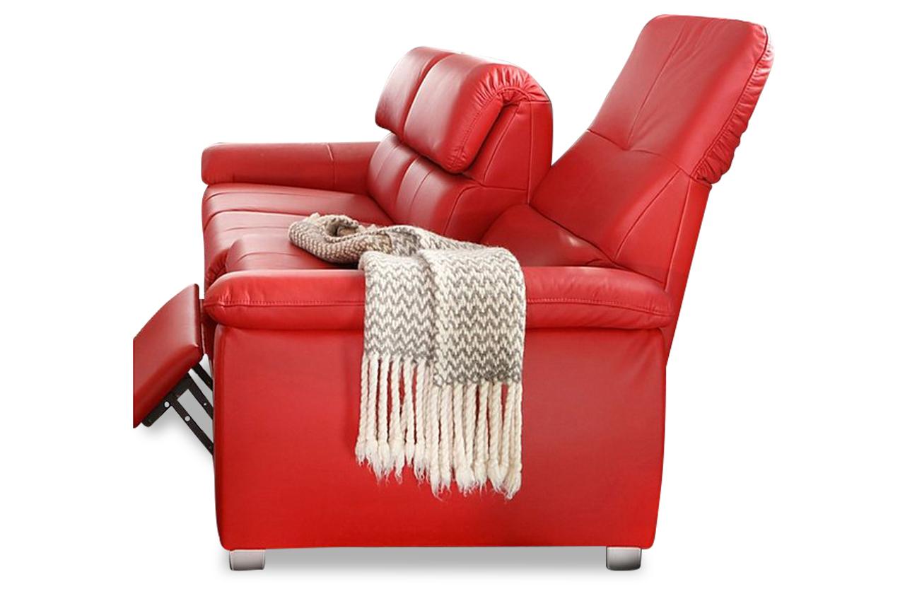 leder 3er sofa mit relax rot sofas zum halben preis. Black Bedroom Furniture Sets. Home Design Ideas